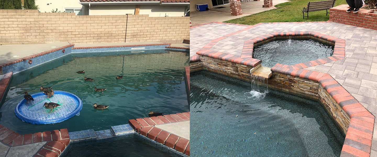 Swimming Pool And Spa Remodel – New Coping – New Paver Deck ...