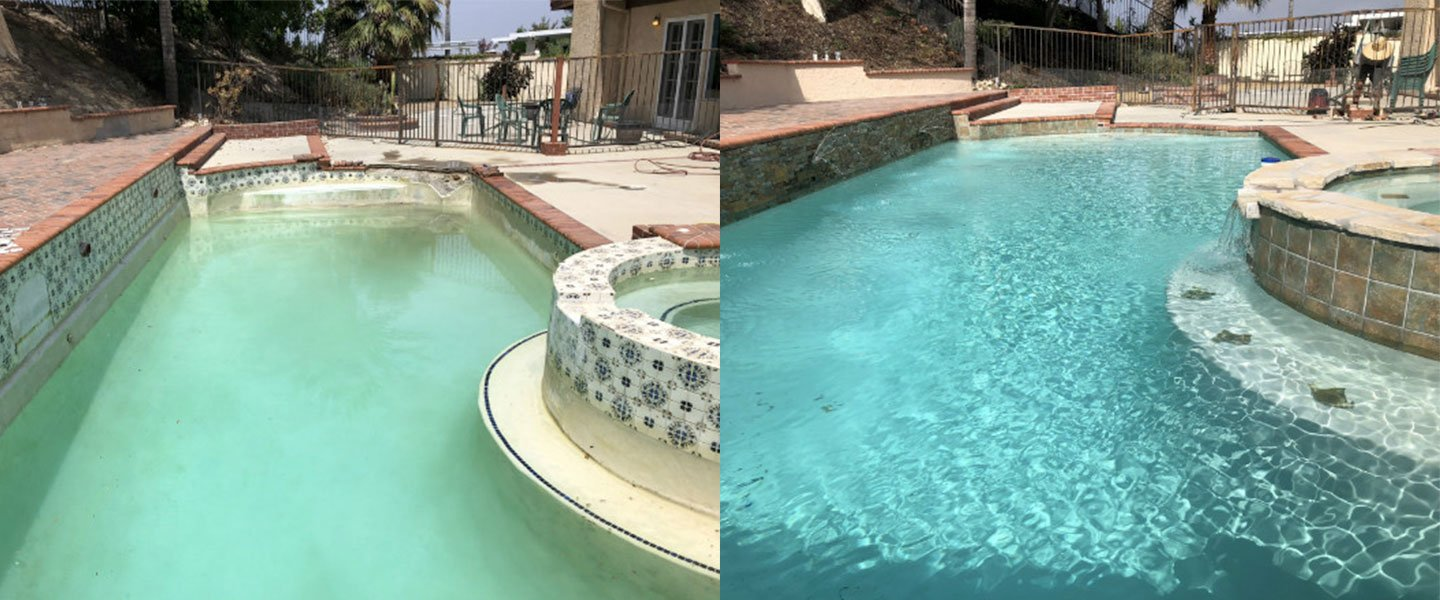 Swimming Pool And Spa Remodel - Cracked Bond Beam Repair Thousand ...