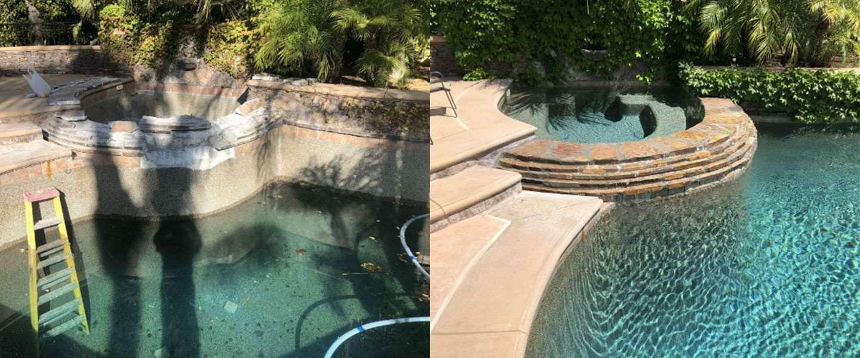 Swimming Pool and Spa Remodel - Spa Spillway Crack Repair ...